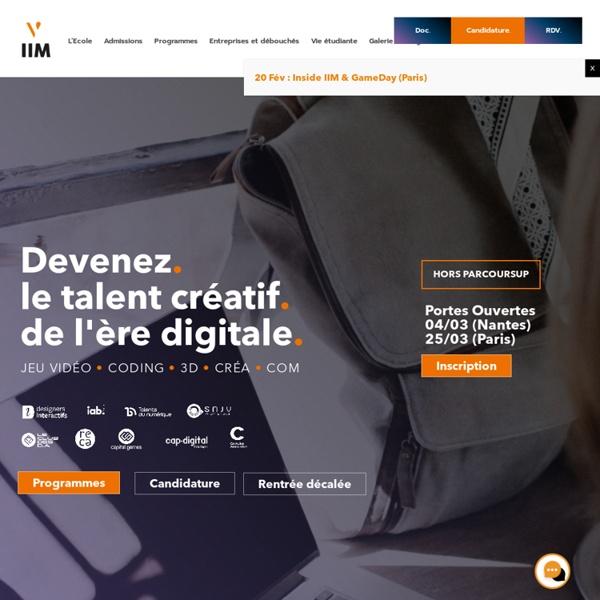 Accueil - IIM, Institut de l'Internet et du Multimédia