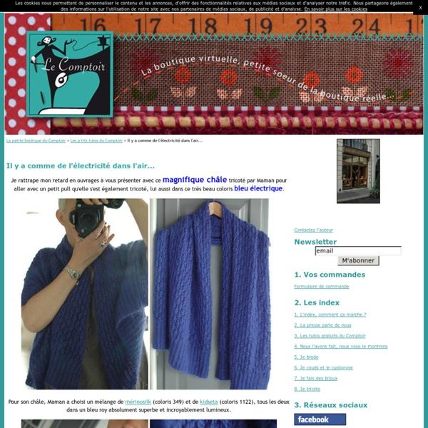 Magnifique châle bleu électrique
