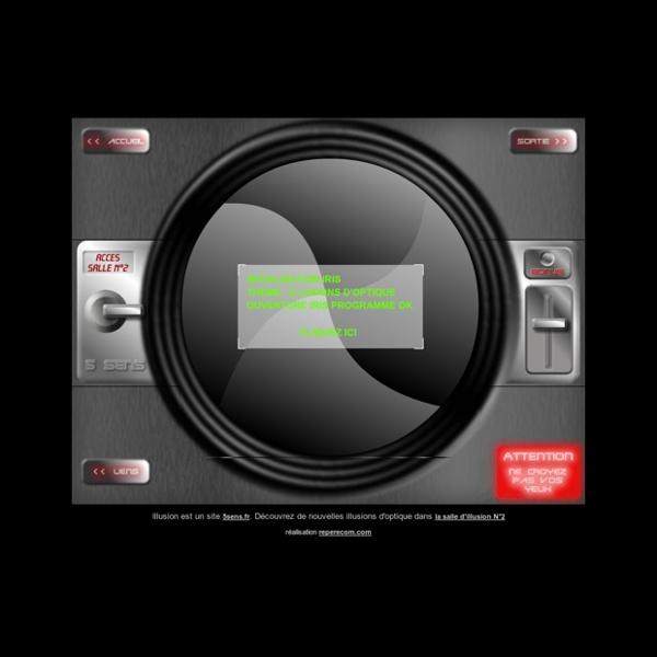 Illusions d'optique interactives, Salle N°1 - le site qui fait mentir vos yeux