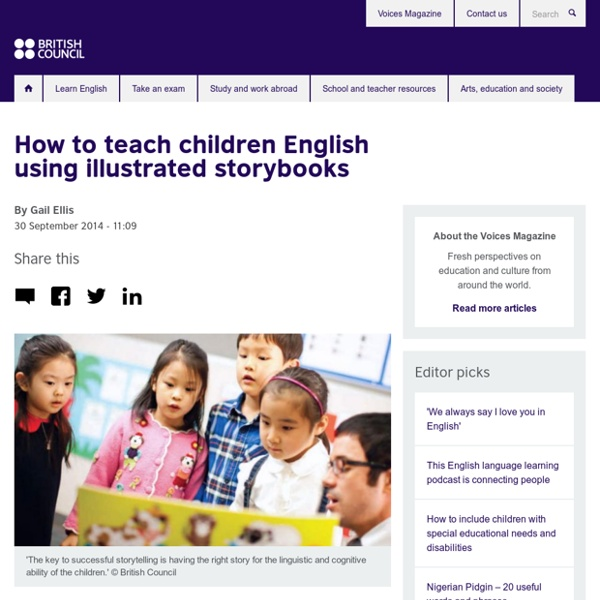 How to teach children English using illustrated storybooks