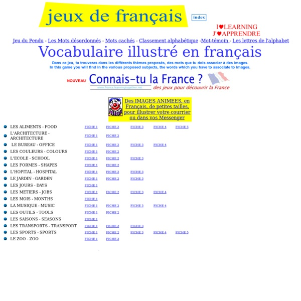 Illustrated vocabulary - Vocabulaire illustré - Learning elementary vocabulary with pictures !