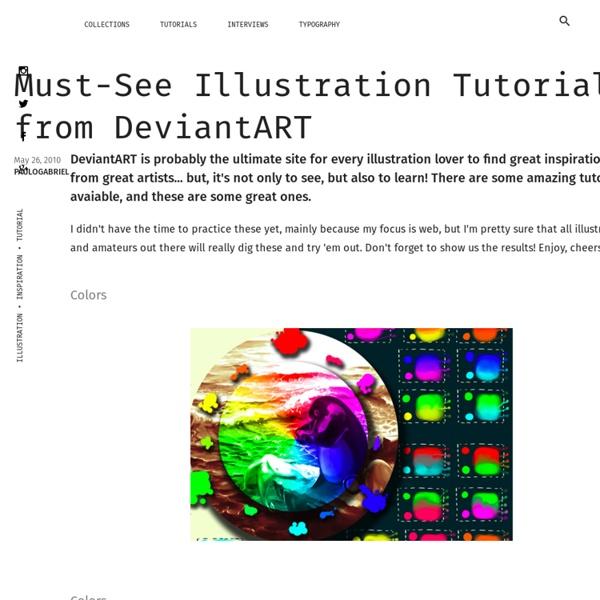 Must-See Illustration Tutorials from DeviantART