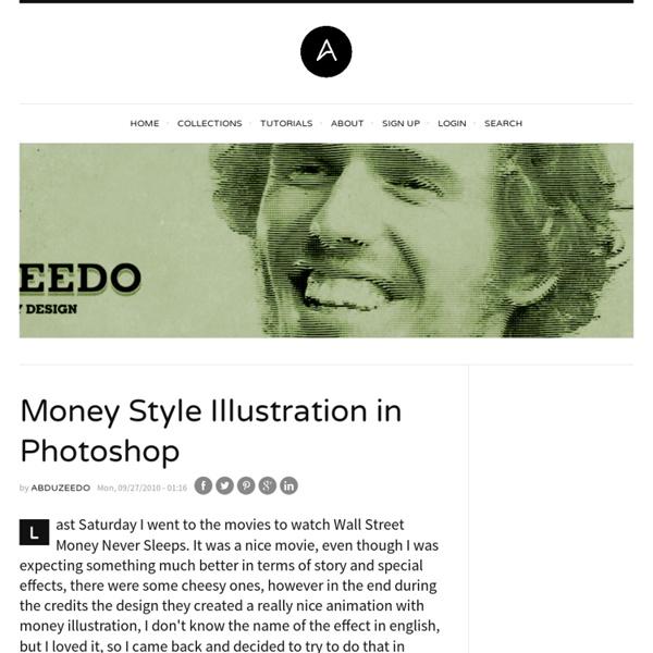 Money Style Illustration in Photoshop