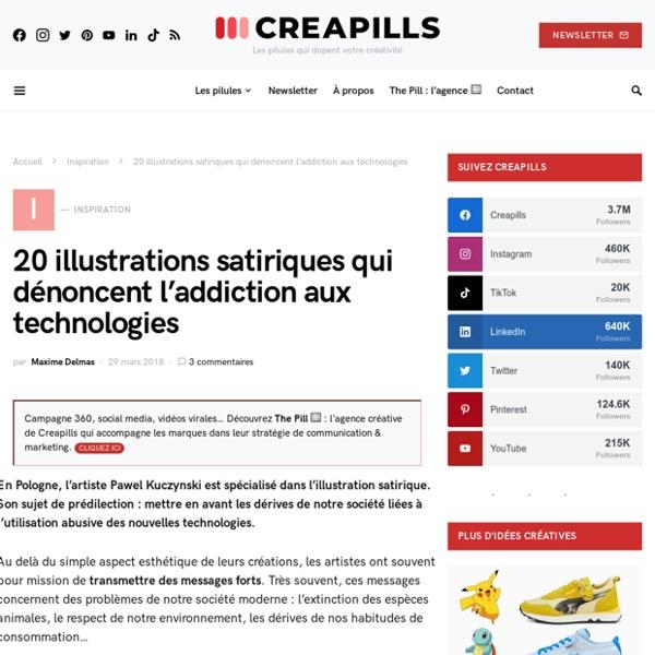 20 illustrations satiriques qui dénoncent l'addiction aux technologies