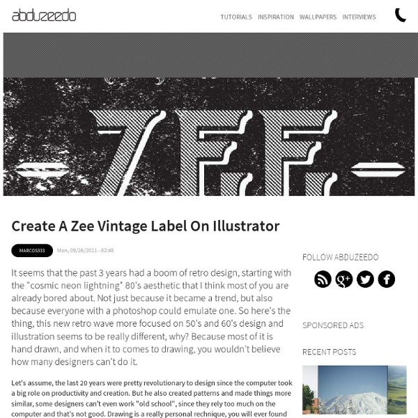 Create a Zee Vintage Label on Illustrator