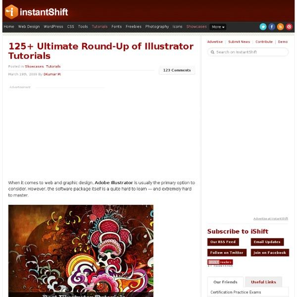 125+ Ultimate Round-Up of Illustrator Tutorials