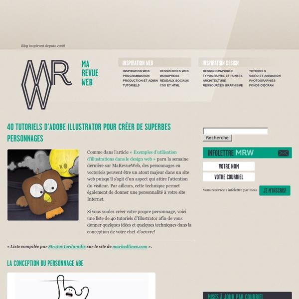 Tutoriels Illustrator pour créer des personnages
