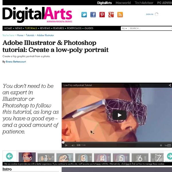 Adobe Illustrator & Photoshop tutorial: Create a low-poly portrait