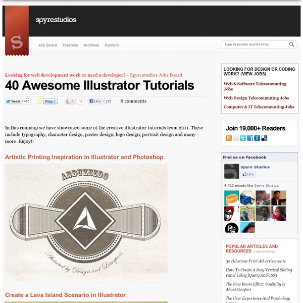 40 Awesome Illustrator Tutorials