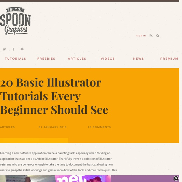 20 Basic Illustrator Tutorials Every Beginner Should See