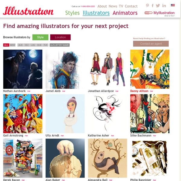Famous illustrators - US and UK Artists, European Artists and Chinese Artists