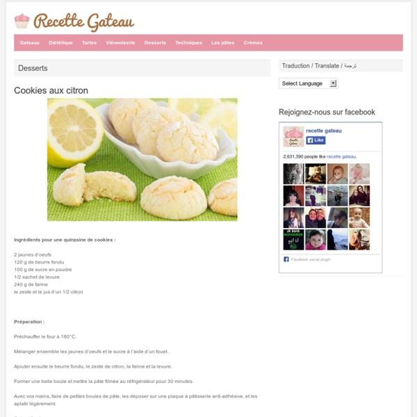 Cookies aux citron