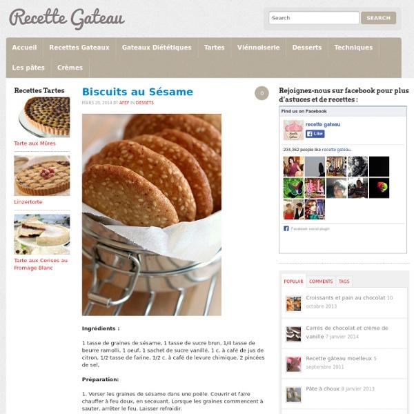 Biscuits au Sésame : recette illustrée, simple et facile