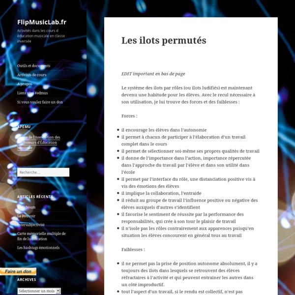 Les ilots permutés – FlipMusicLab.fr