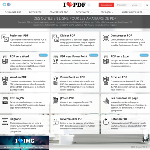 Outils en ligne pour fusionner et diviser des PDF