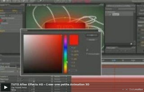 TUTO After Effects HD - Créer une petite Animation 3D