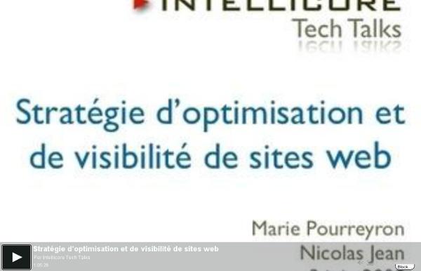 Stratégie d'optimisation et de visibilité de sites web - une vidéo High-tech et Science