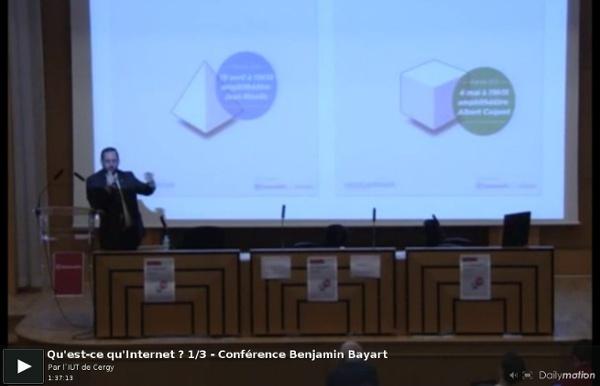Qu'est-ce qu'Internet ? 1/3 - Conférence Benjamin Bayart - une vidéo High-tech et Science