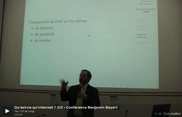 Qu'est-ce qu'Internet ? 3/3 - Conférence Benjamin Bayart - une vidéo High-tech et Science