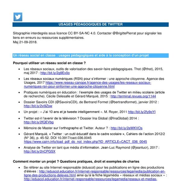 Utiliser Twitter en classe — Enseigner avec le numérique