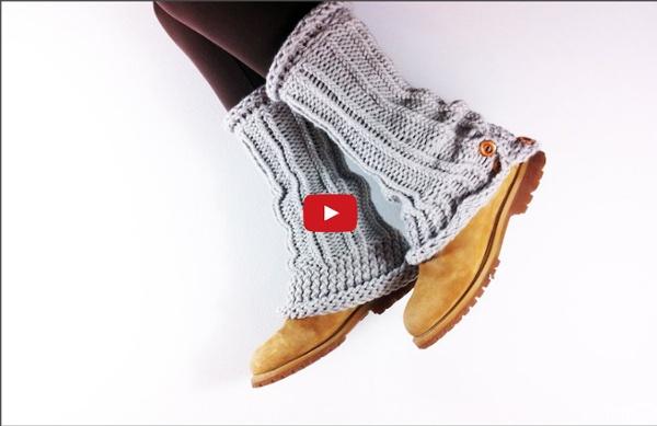 Vidéo: faire des jambières au tric