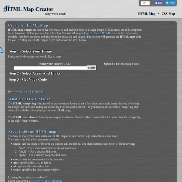 HTML Map, CSS Map, HTML Image Map Creator - Easily create your HTML image map