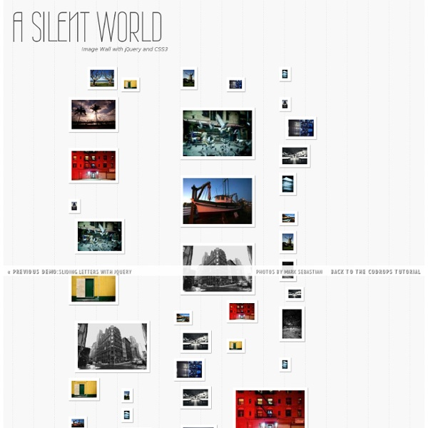 Image Wall with jQuery and CSS3