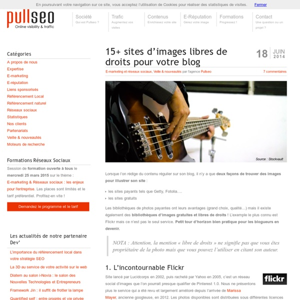 15+ sites d'images libres de droits pour votre blog