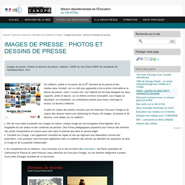 Images de presse : photos et dessins de presse