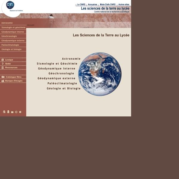 CNRS Images - Les Sciences de la Terre au lycée