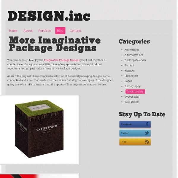 More Imaginative Package Designs - DESIGN