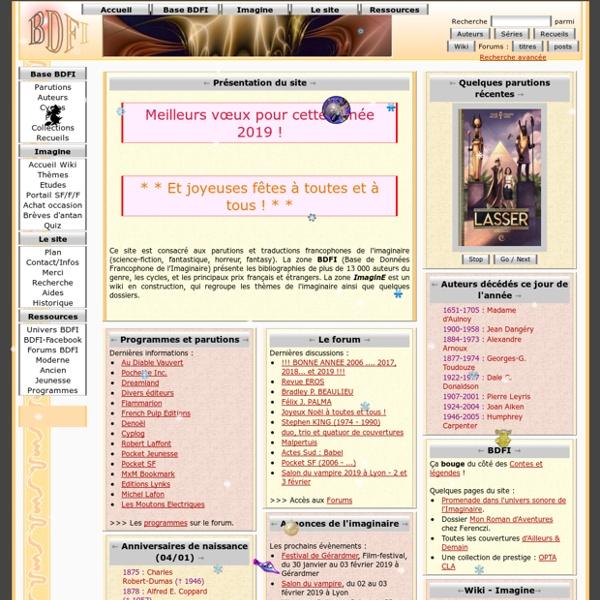 BDFI / ImaginE : la Base de Données Francophone de l'Imaginaire