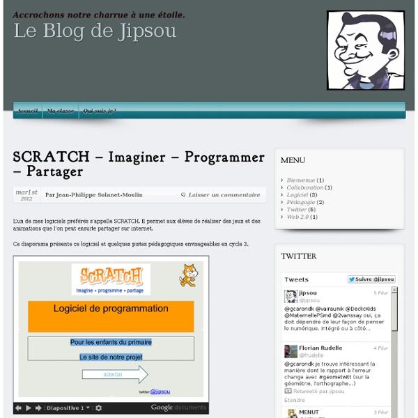 SCRATCH – Imaginer – Programmer – Partager – Pédagogo