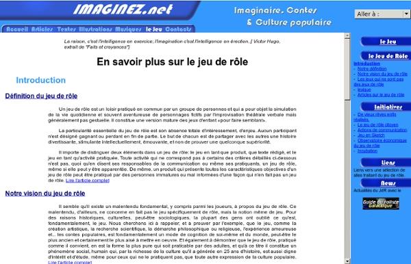 Imaginez.net : Le jeu de rôle