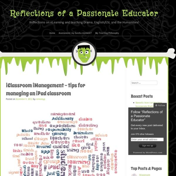 iClassroom iManagement – tips for managing an iPad classroom