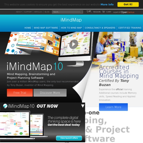 Mind Mapping software from Tony Buzan, inventor of Mind Maps