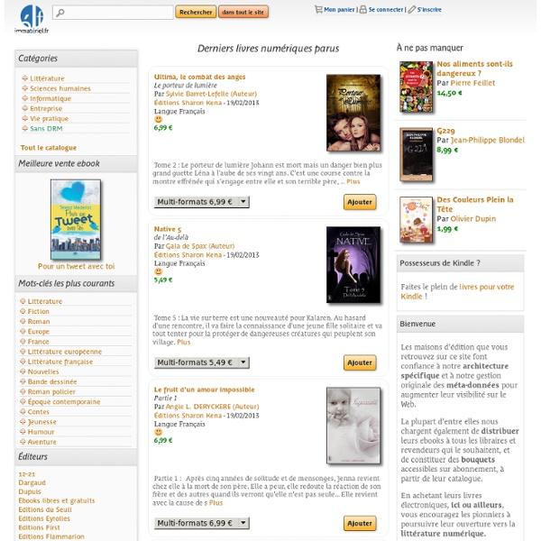 Immatériel·fr - La librairie numérique