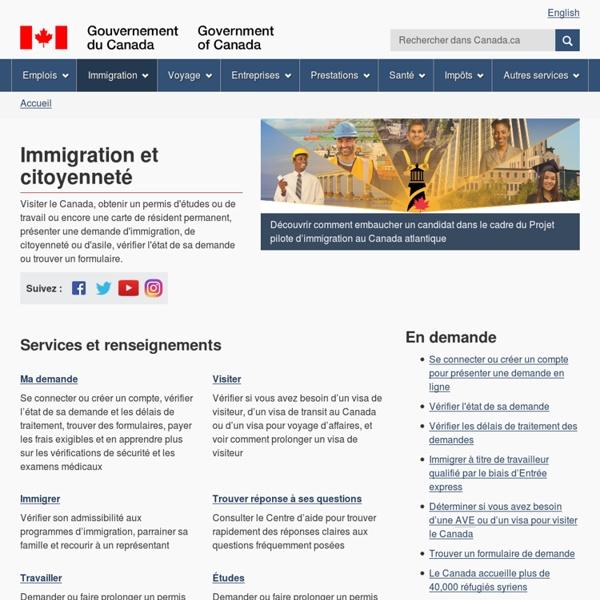 Accueil - Citoyenneté et Immigration Canada - International