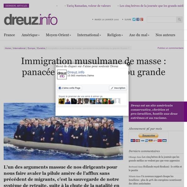 Immigration musulmane de masse: panacée à nos problèmes ou grande illusion?