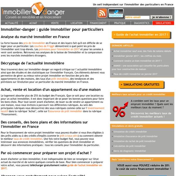 Blog sur le marché immobilier pour les particuliers en France
