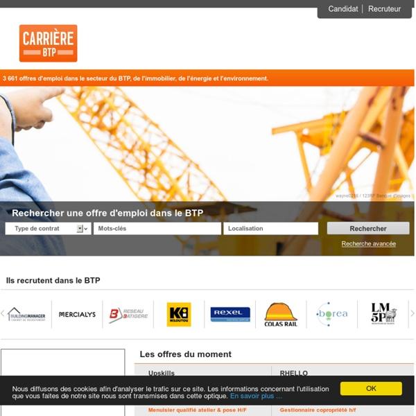 Carrière BTP : Emploi BTP - bâtiment - génie civil - construction - immobilier - travaux publics