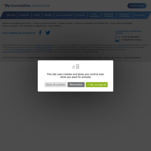 Immobilier.notaires : Site officiel de l'immobilier des Notaires de France