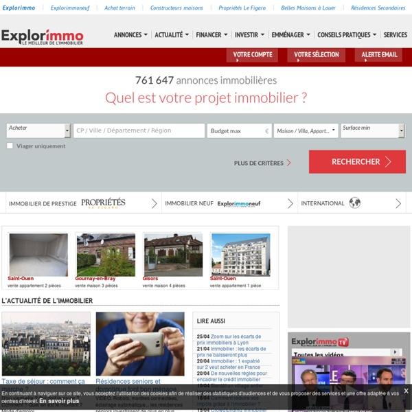 Immobilier (location, vente) : 500 000 annonces immobilières