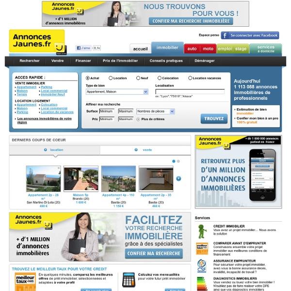Achat, location immobilier avec Annoncesjaunes.fr