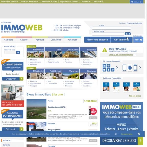 Immoweb 1er site immobilier en belgique tout l 39 immo ici pearltrees - Site de vente en belgique ...