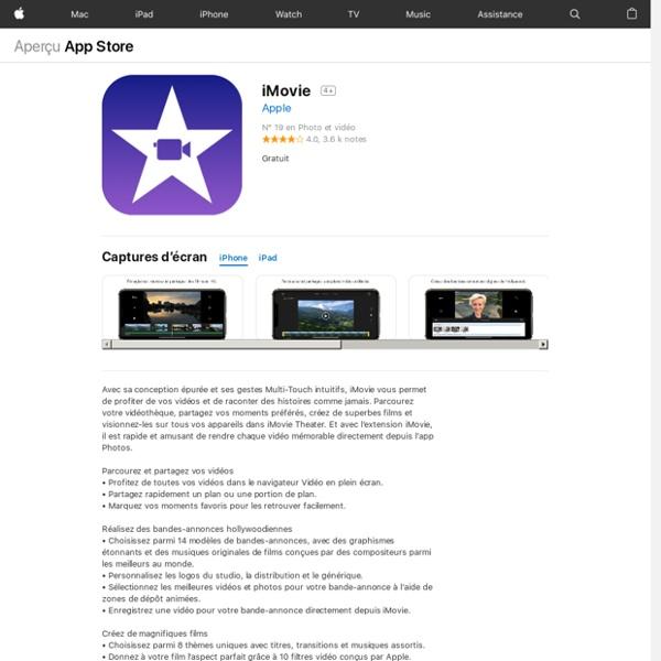 iMovie pour iPhone, iPod touch et iPad dans l'App Store sur iTunes