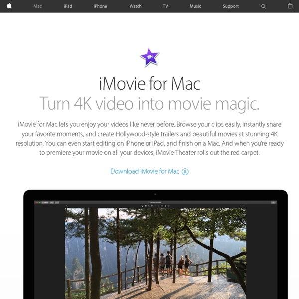 IMovie for Mac | Pearltrees