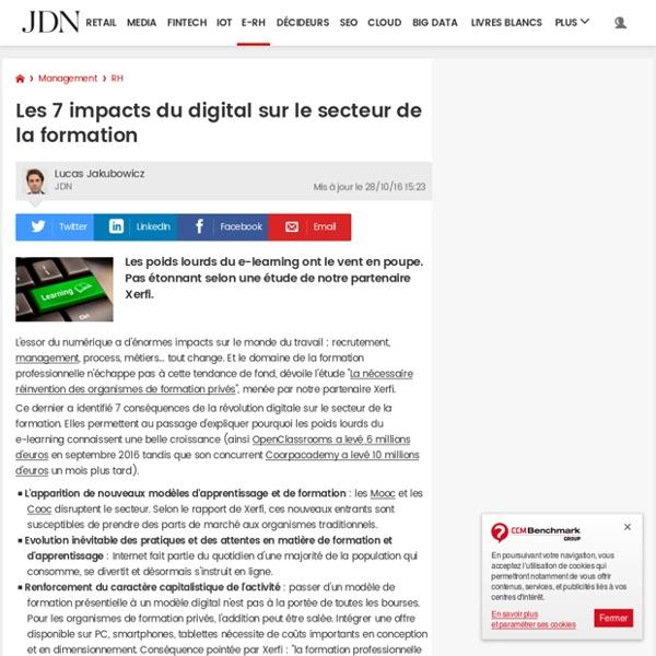 11B2016 Les 7impacts du digital sur le secteur de la formation