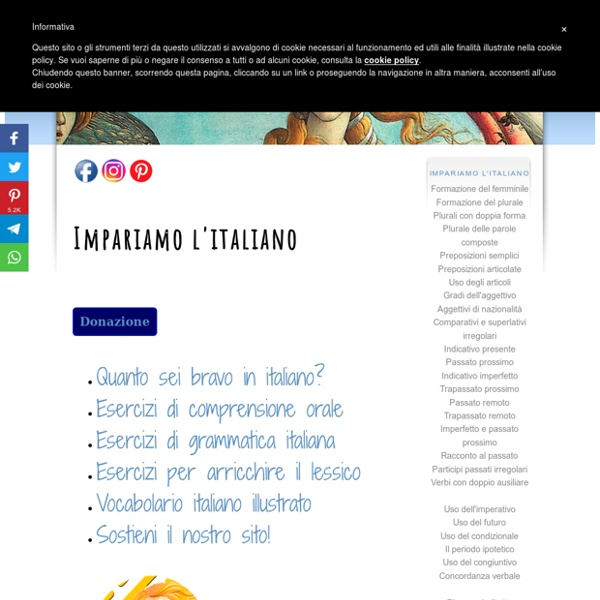 IMPARIAMO L'ITALIANO! : ESERCIZI PER STRANIERI : VIDEO DIDATTICI/MUSICA