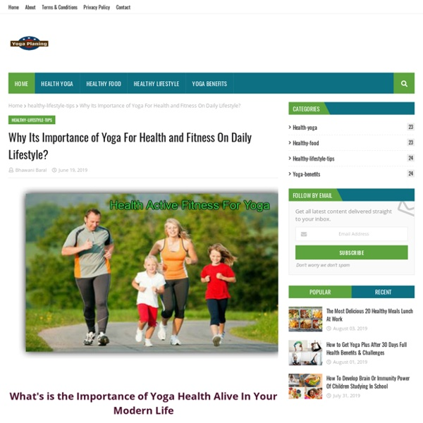 Why Its Importance of Yoga For Health and Fitness On Daily Lifestyle?